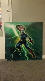 Captain America canvas picture