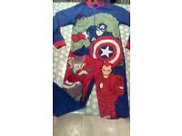 Boys Marvel Avengers Assemble Fleece Onsie - age 12/13