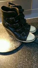 Ash Wedge Trainers size 4