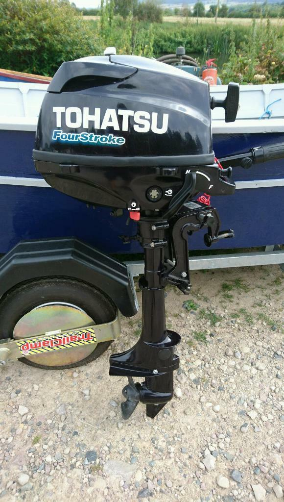 Tohatsu 3.5hp 4 stroke outboard enginein Pershore, WorcestershireGumtree - Tohatsu 2.5hp 4 stroke outboard engineShort shaft twist and goIntegral tank2013/14 modelEx showroom modelOnly been ran in a tankImmaculate conditionForward and reverse gears on leverPershore areaIncludes lanyard and handbookFully...