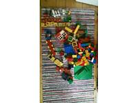Duplo large selection of blocks, animals and vehicle