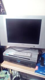 Flat screen television.