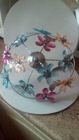 Floral pendant light shade