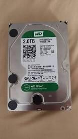 2TB Western Digital Green harddrive