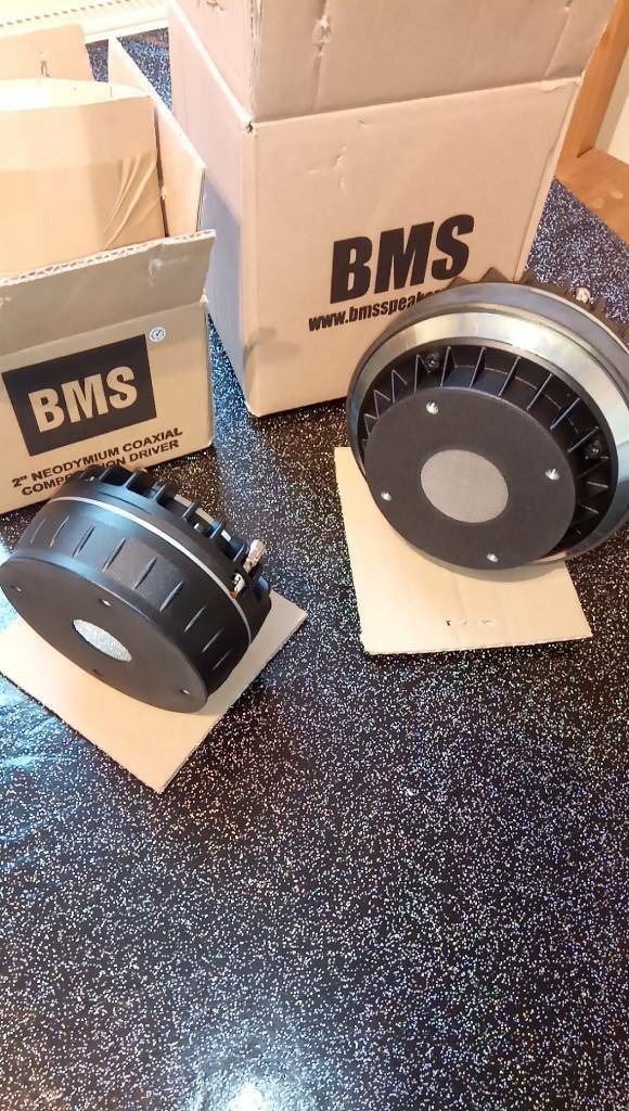 BMS coaxial compression drivers 4594 & 4590 8Ohms