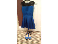 Girls River Island Dress age 11/12 & Coordinating Shoes size 3.