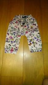 M&S Girls 9-12 months trousers unused