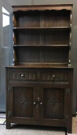 Antique solid dark wood dresser/sideboard
