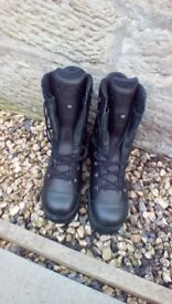 Work boots.haix gortex waterproof boots hard wearing,leather,thick soled