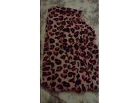Ladies leapard print onesie