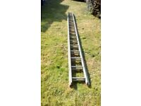 large aluminium ladders 15ft extending to nearly 30ft
