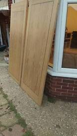 White oak laminate v.heavy doors