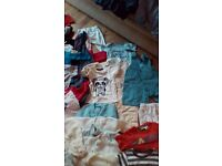Big bundle of baby boys clothes 6 to 9 and 9to 12 months