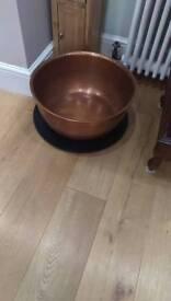 Copper planter.