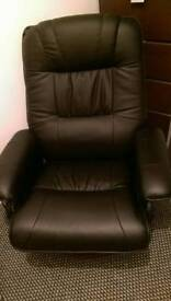 Leather Remote heat and Massage Chair