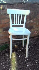 Stylish Vintage Oak Chair Painted White