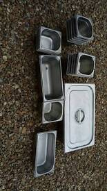 Restaurant catering stainless steel gastronorm containers