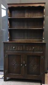 Antique solid dark wood dresser