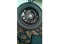 Jaguar space saver wheel and tyre. T145/80 R16 Continental forXF,XE, S type. never used. £60.00