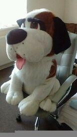 Huge soft toy dog