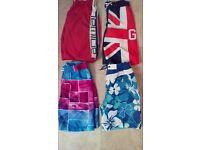 4 x pairs boys swim shorts - age 11/12