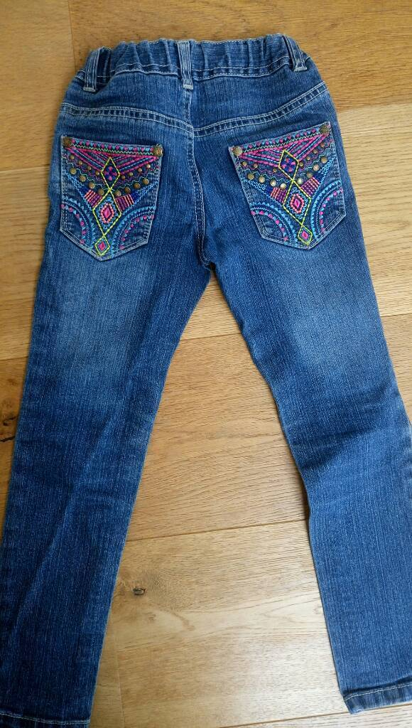 Butterfly Girl jeans for 6 year old girl
