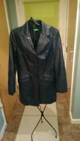 Leather3/4 coat size 10
