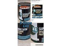 Brand new paint 5 litres. sadolin superdec satin super white wood paint exterior paint.