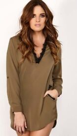 *BRAND NEW WITH TAGS* 'Binky' khaki dress
