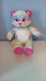 Build-A-Bear tiger with clothes and accessories