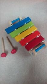 Small wooden xylophone