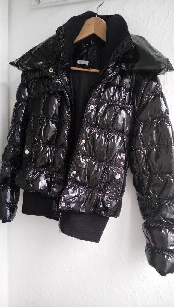 Black Jackets Waist Length Italian Style, Great for Winter / Wind, size 12 / Medium / Dawn