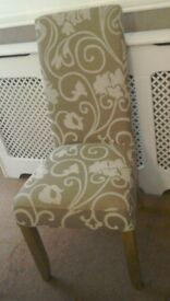 WINDSOR DINING OCCASIONAL CHAIRS X 2 VERY HIGH BACKED