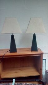 Faux leather lamps
