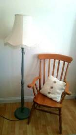 Shabby chic lamp and chair