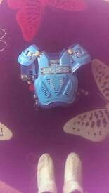 Motor cross child's body armour
