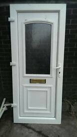 Front door, plastic upvc, good condition, can be provided with lock and set of keys,