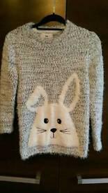 Girls fluffy sweater 12-13 new