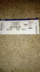 THE VAMPS concert ticket