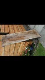 Large slab of oak