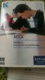 Acca f2 exam kit and academic books