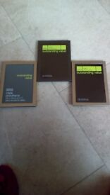 3 x marks and spencers metal photo frames