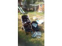 Icandy push chair and carry cot