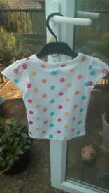BNWT - Florence & Fred Coloured Spotty Top - 2 to 3 Years