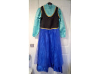 Ladies Adult Princess Anna Dress & Cape from Frozen/Disney, Fancy Dress Costume, Size 12-14