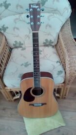 Vintage left hand acoustic guitar model V400