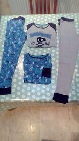 Boys M&S mix & match blue/grey pyjamas - age 11/12