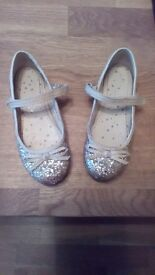 Next girls sparkly gold shoes, size 12