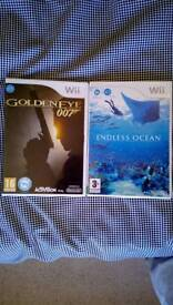 Nintendo wii games(goldeneye 007/endless ocean)