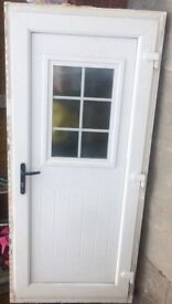 UPVC door with frame and 2 keys